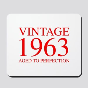 VINTAGE 1963 aged to perfection-red 300 Mousepad