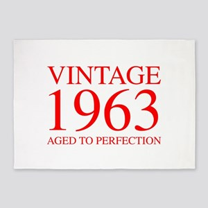 VINTAGE 1963 aged to perfection-red 300 5'x7'Area
