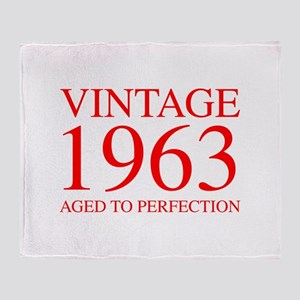 VINTAGE 1963 aged to perfection-red 300 Throw Blan