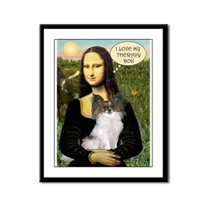 Mona's Papillon Therapy Dog Framed Panel Print