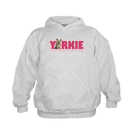 Hot Pink Yorkie - Kids Hoodie