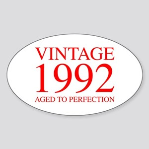 VINTAGE 1992 aged to perfection-red 300 Sticker