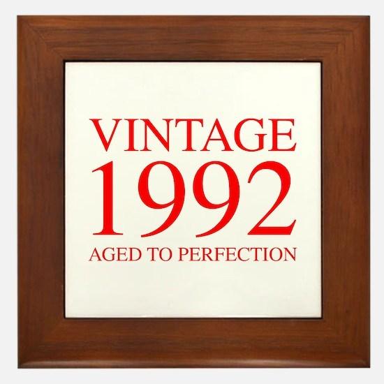 VINTAGE 1992 aged to perfection-red 300 Framed Til