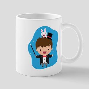 Cute Magician Boy and Bunny Mugs