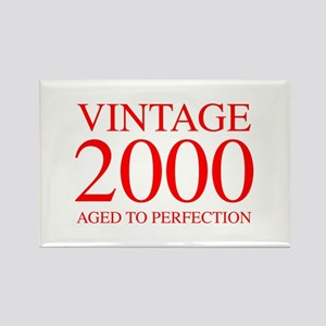 VINTAGE 2000 aged to perfection-red 300 Magnets