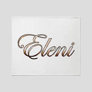 Gold Eleni Throw Blanket