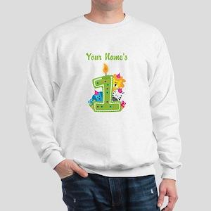 CUSTOM One Year Old Green Sweatshirt