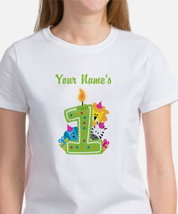 CUSTOM One Year Old Green T-Shirt