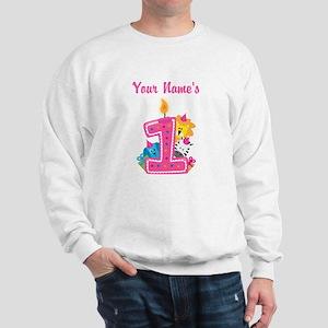 CUSTOM One Year Old Pink Sweatshirt