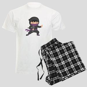 Cute Ninja with Nunchaku for Kids pajamas