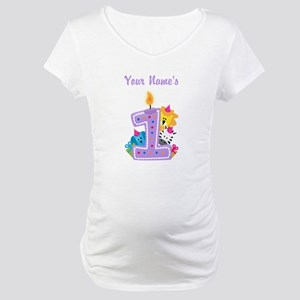 CUSTOM 1 Year Old Maternity T Shirt