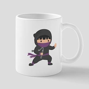 Cute Ninja with Nunchaku for Kids Mugs