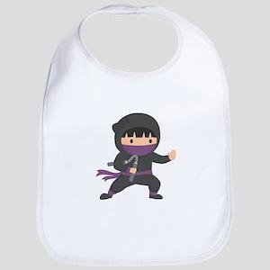 Cute Ninja with Nunchaku for Kids Bib