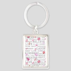 Romantic Rose Petals inspirational words Keychains