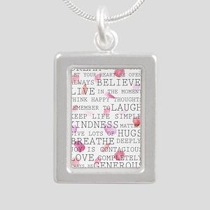 Romantic Rose Petals inspirational words Necklaces