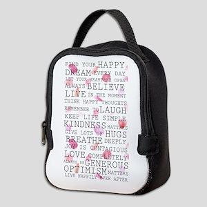 Romantic Rose Petals Neoprene Lunch Bag
