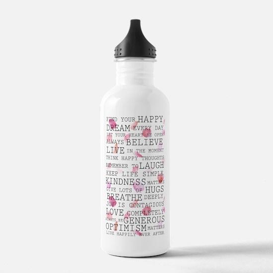 Romantic Rose Petals inspirational words Water Bot