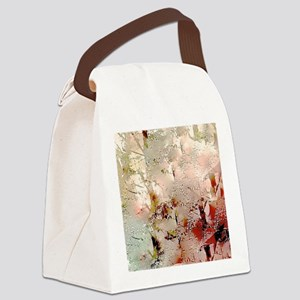 Abstract Snow Trees Canvas Lunch Bag
