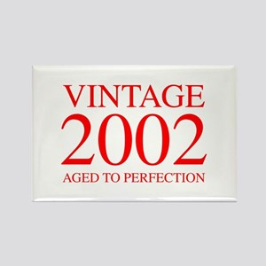 VINTAGE 2002 aged to perfection-red 300 Magnets
