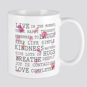 Rose Petals inspirational words Mugs