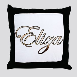 Gold Eliza Throw Pillow