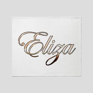 Gold Eliza Throw Blanket