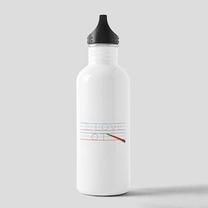 I Love OT Stainless Water Bottle 1.0L