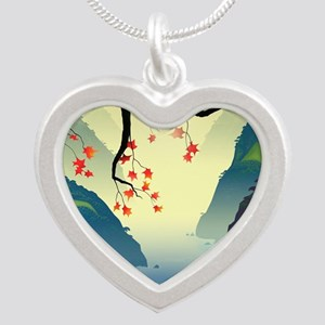 Water Way (full) Silver Heart Necklace