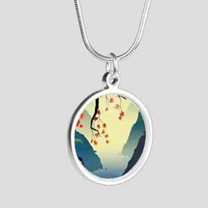 Water Way (full) Silver Round Necklace