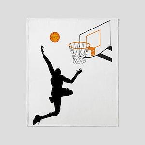 I like basketball Throw Blanket
