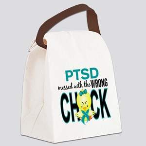 PTSD MessedWithWrongChick1 Canvas Lunch Bag