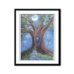 Magical Womb Tree Framed Panel Print