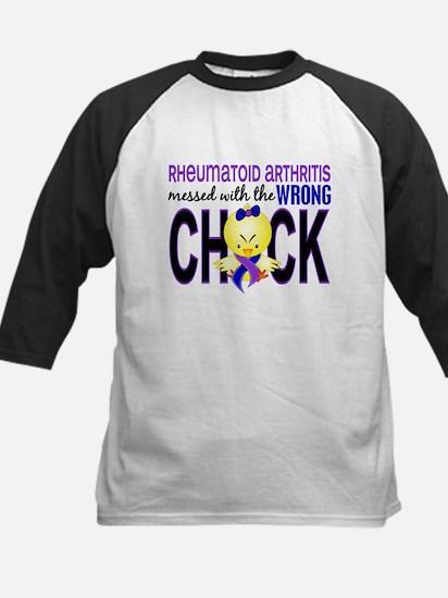 RA MessedWithWrongChick1 Kids Baseball Jersey