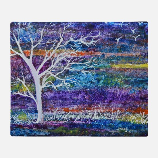 Abstract Tree landscape Throw Blanket