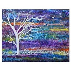 Abstract Tree landscape Poster