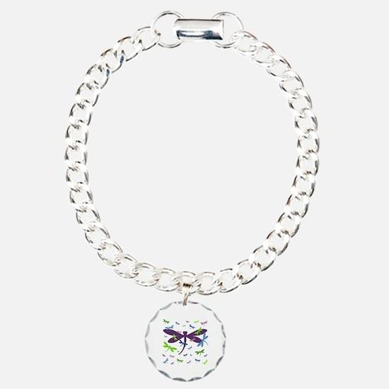 Dragonflies Pattern - Bl Bracelet