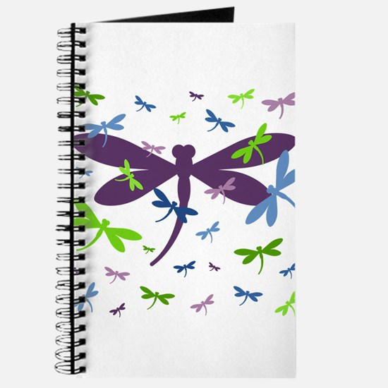 Dragonflies Pattern - Blue, Green, and Pur Journal