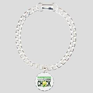 Neurofibromatosis Messed Charm Bracelet, One Charm