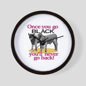Go Black Wall Clock