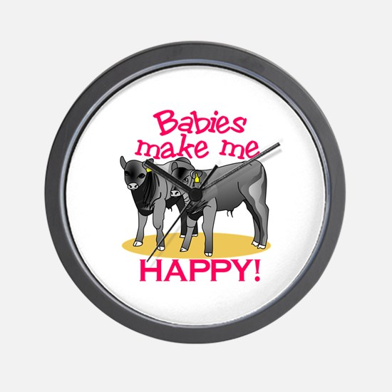 Make Me Happy! Wall Clock
