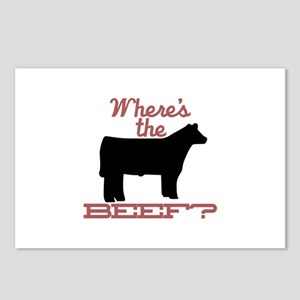 Where's The Beef? Postcards (Package of 8)