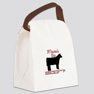 Where's The Beef? Canvas Lunch Bag