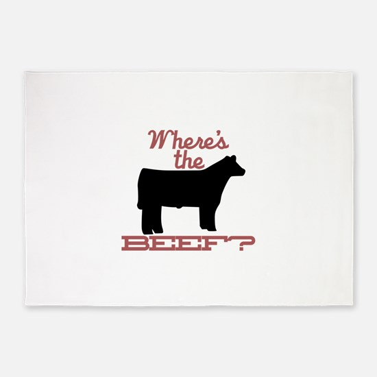 Where's The Beef? 5'x7'Area Rug