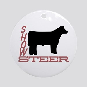Show Steer Ornament (Round)
