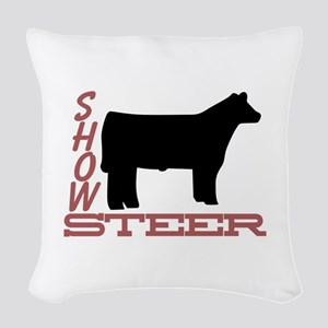 Show Steer Woven Throw Pillow