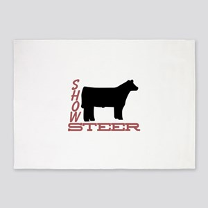 Show Steer 5'x7'Area Rug