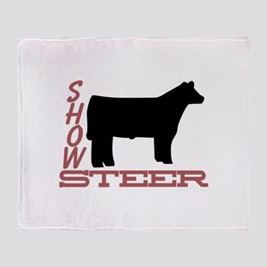 Show Steer Throw Blanket