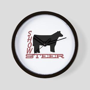 Show Steer Wall Clock