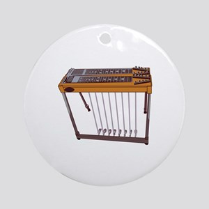 Steel Guitar Ornament (Round)