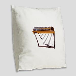 Steel Guitar Burlap Throw Pillow